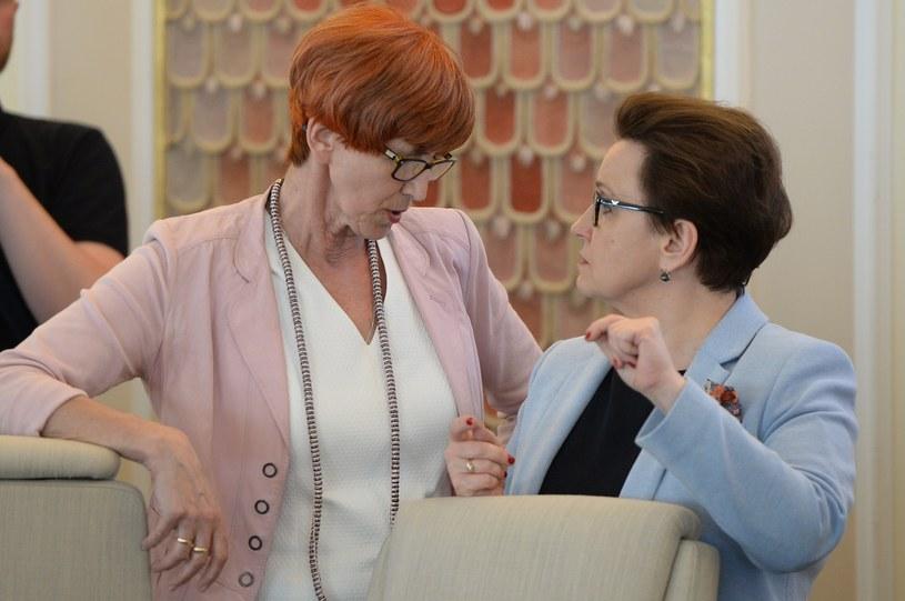 Elżbieta Rafalska i Anna Zalewska /Rafal Oleksiewicz /Reporter