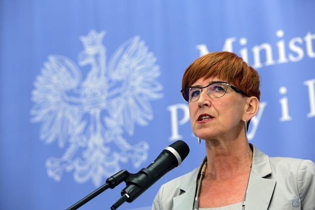 Elżbieta Rafalska, minister rodziny, pracy i polityki społecznej. Fot. Tomasz Gzell /PAP