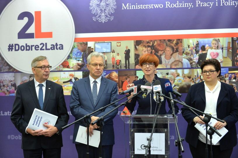 Elżbieta Rafalska podsumowuje dwa lata działalności swojego resortu /Marcin Obara /PAP