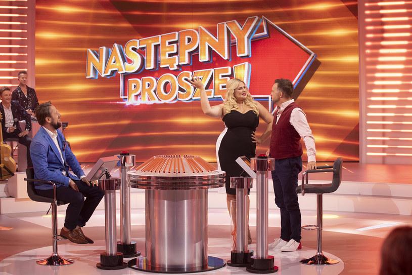 """Elżbieta Romanowska i Marcin Wójcik w programie """"Następny proszę!"""", fot. TV Puls /materiały prasowe"""