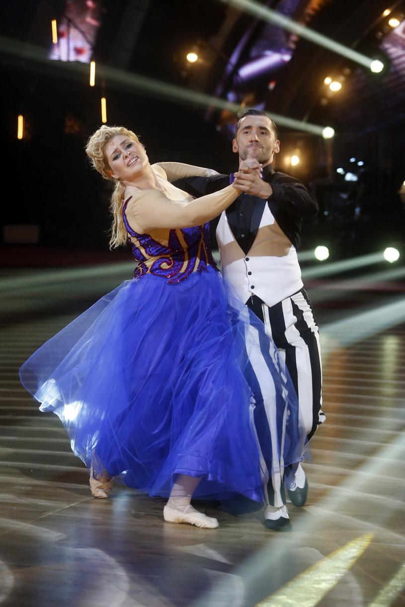 Elżbieta Romanowska i Rafał Maserak za swoje dwa tańce otrzymali łącznie aż 78 punktów /AKPA