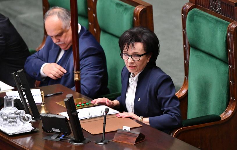 Elżbieta Witek oraz zastępca szefa Kancelarii Sejmu Dariusz Salamończyk /Piotr Nowak /PAP