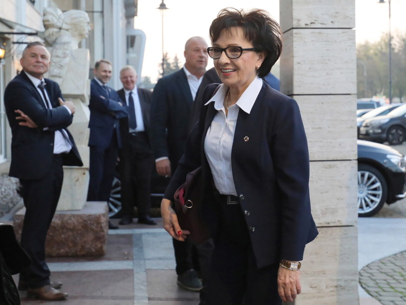 Elżbieta Witek w drodze na wyjazdowe posiedzenie klubu PiS /Paweł Supernak /PAP