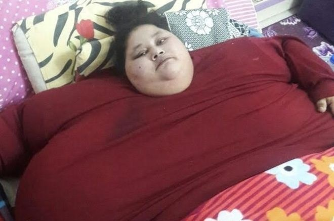Eman Ahmed Abd El Aty waży blisko 500 kg /Fot. Muffazal Lakdawala /materiały prasowe