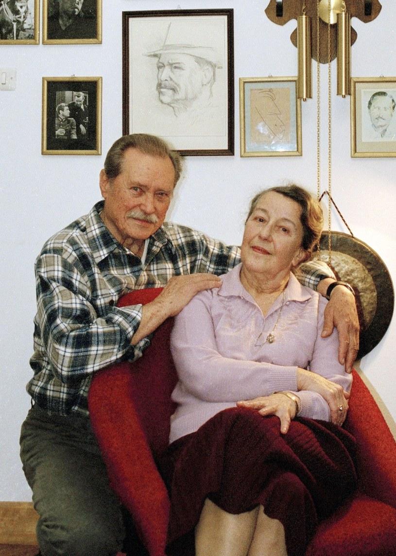 Emil Karewicz z ukochaną żoną Teresą /Maciej Billewicz /East News