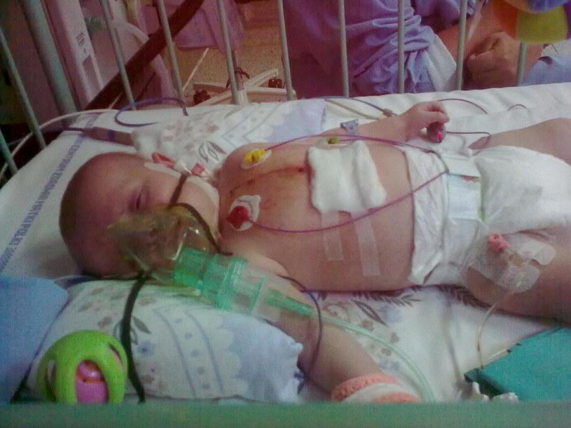 Emil w szpitalu /(zdjęcie z rodzinnego archiwum) /