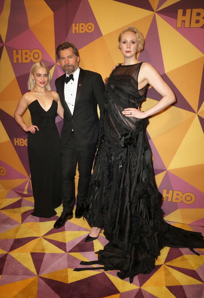 Emilia Clarke, Nikolaj Coster Waldau i Gwendoline Christie /Frederick M. Brown /Getty Images
