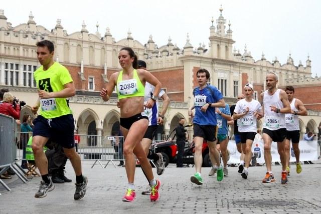 Emilia Zielińska z Warszawy wygrała Cracovia Maraton wśród kobiet czasem 3:03:15. Fot. Krzysztof Porębski /INTERIA.PL/Informacja prasowa