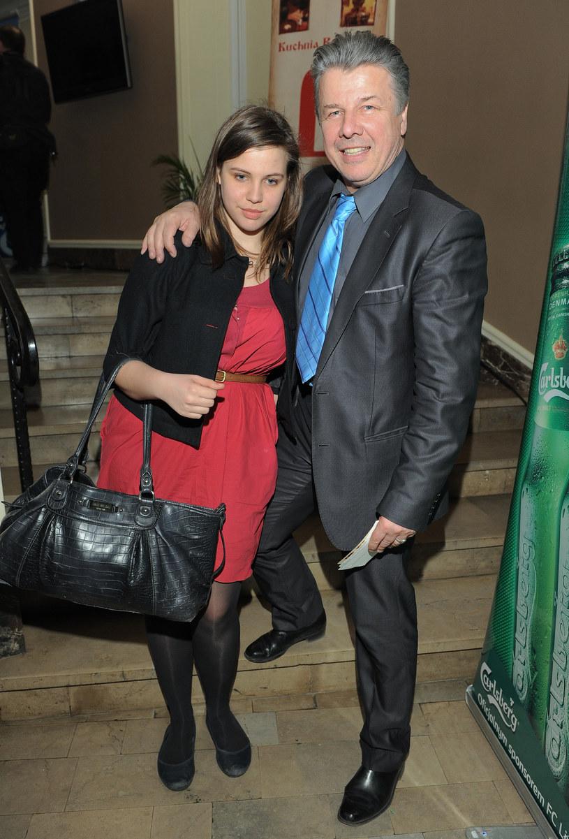 Emilian Kamiński z córką Natalią /Paweł Przybyszewski /MWMedia