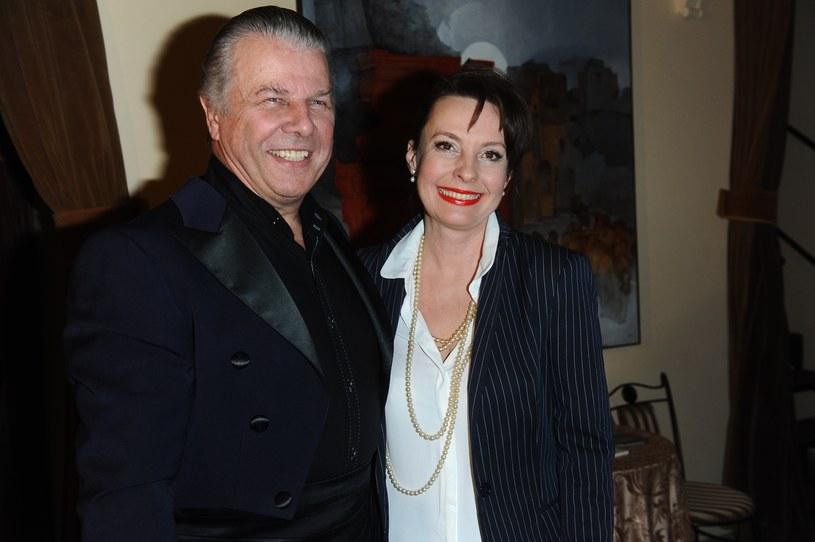 Emilian Kamiński z żoną, Justyną Sieńczyłło /Piotr Andrzejczak /MWMedia