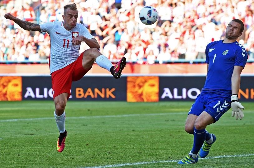 Emilijus Zubas w Krakowie podczas towarzyskiego meczu Polska - Litwa /AFP