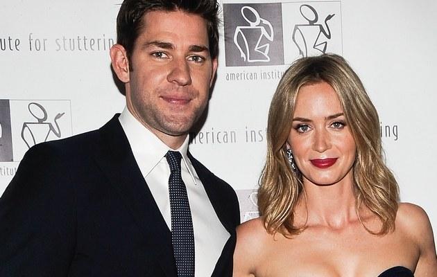 Emily Blunt z mężem /- /Getty Images