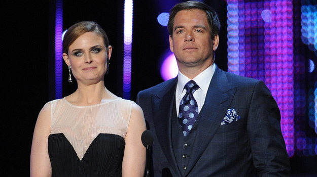 Emily Deschanel i Michael Weatherly podczas gali People's Choice Awards /Kevin Winter /Getty Images