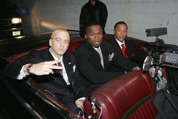 Eminem, 50 Cent i Dr Dre fot. Frank Micelotta /Getty Images/Flash Press Media