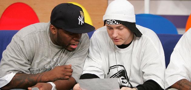 Eminem i 50 Cent, fot. Scott Gries  /Getty Images/Flash Press Media
