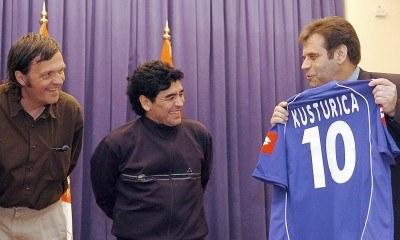 Emir Kusturica i Diego Maradona /AFP