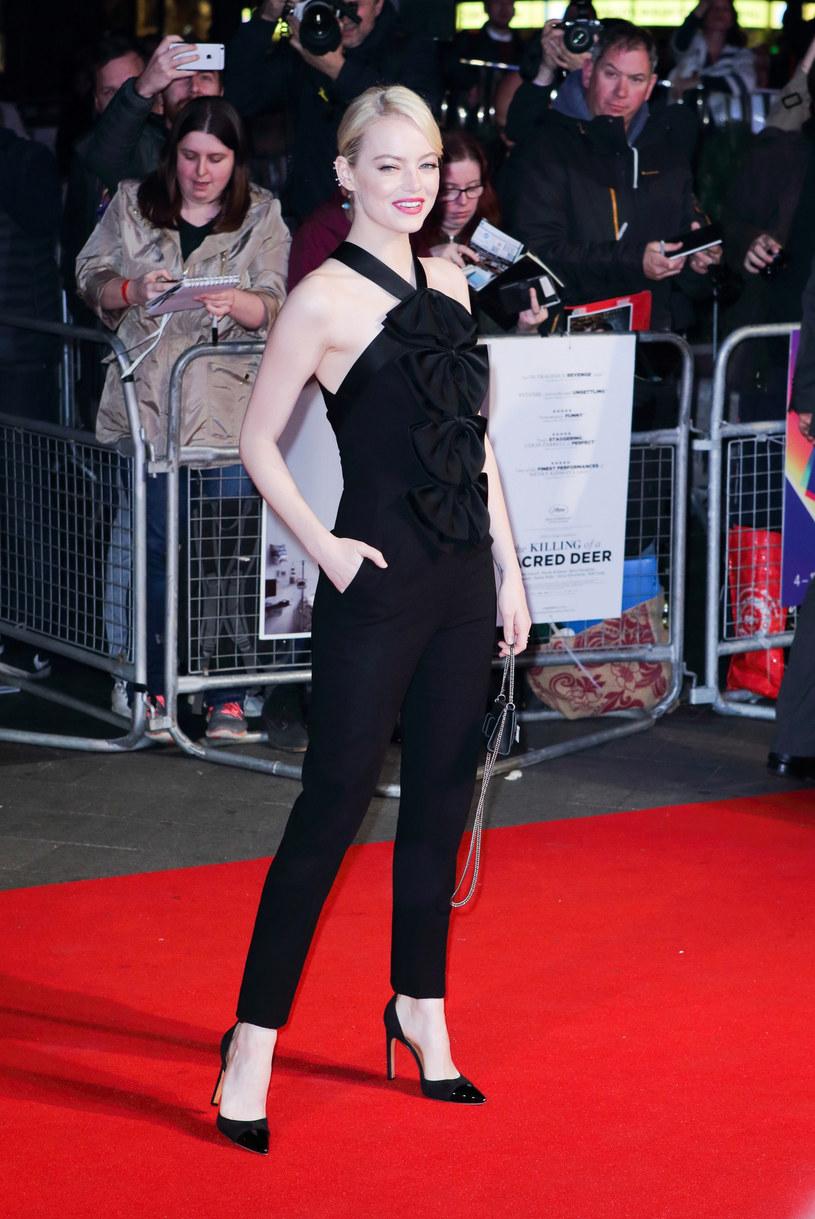 """Emma Stone podczas londyńskiej premiery """"Zabicia świętego jelenia"""" /East News"""