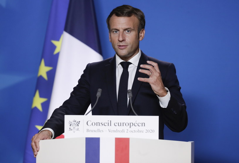 Emmanuel Macron chce wyjaśnić sprawę obecności syryjskich bojowników w Górskim Karabachu /OLIVIER HOSLET / POOL /PAP/EPA