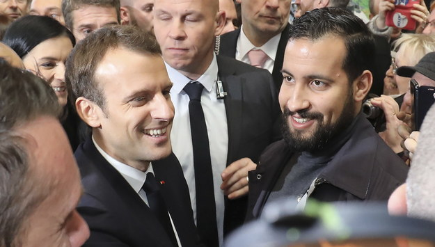 Emmanuel Macron i Alexandre Benalla /LUDOVIC MARIN /PAP/EPA