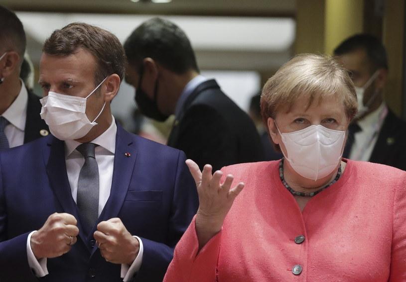 Emmanuel Macron i Angela Merkel na szczycie UE w Brukseli /STEPHANIE LECOQUE  /PAP