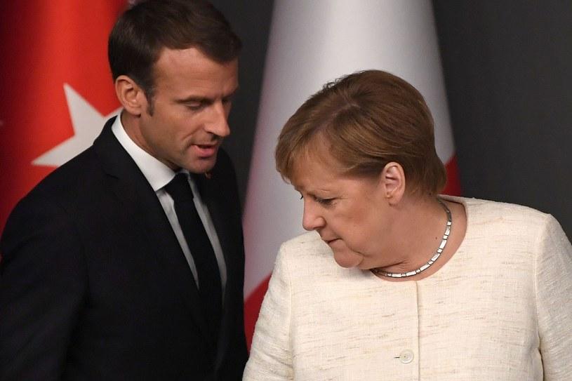 Emmanuel Macron i Angela Merkel /OZAN KOSE/AFP /East News