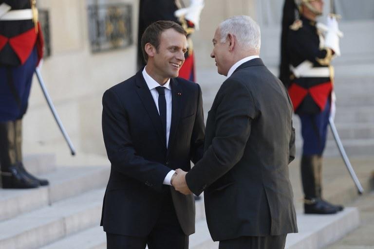 Emmanuel Macron i Benjamin Netanyahu /AFP