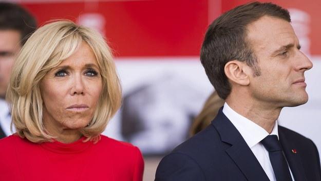 Emmanuel Macron i Brigitte Macron /Blondet Eliot/ABACA /PAP
