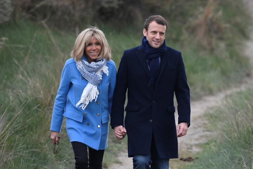 Emmanuel Macron i Brigitte Trogneux /- /East News