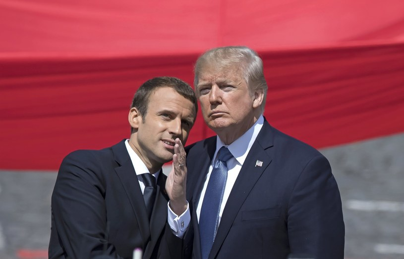Emmanuel Macron i Donald Trump /IAN LANGSDON /PAP/EPA