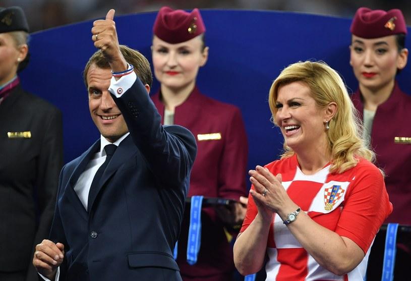 Emmanuel Macron i Kolinda Grabar-Kitarović podczas mundialu w Rosji /Mikhail Voskresenskiy/Sputnik  /East News