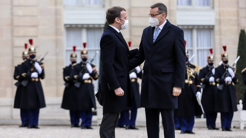 Emmanuel Macron i Mateusz Morawiecki w Paryżu /Kancelaria premiera /Twitter