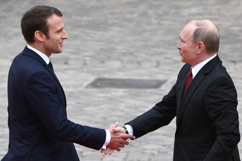 Emmanuel Macron i Władimir Putin /AFP