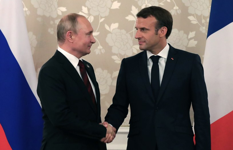 Emmanuel Macron i Władimir Putin /MIKHAIL KLIMENTYEV / SPUTNIK  /AFP