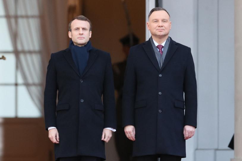 Emmanuel Macron już w Polsce /Rafal Gaglewski /Reporter