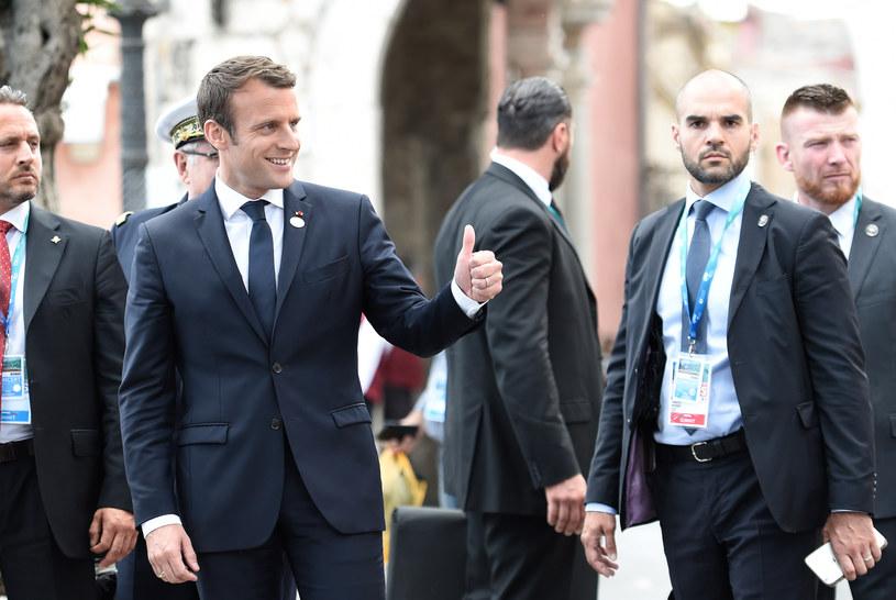 Emmanuel Macron na szczycie G7 /AFP