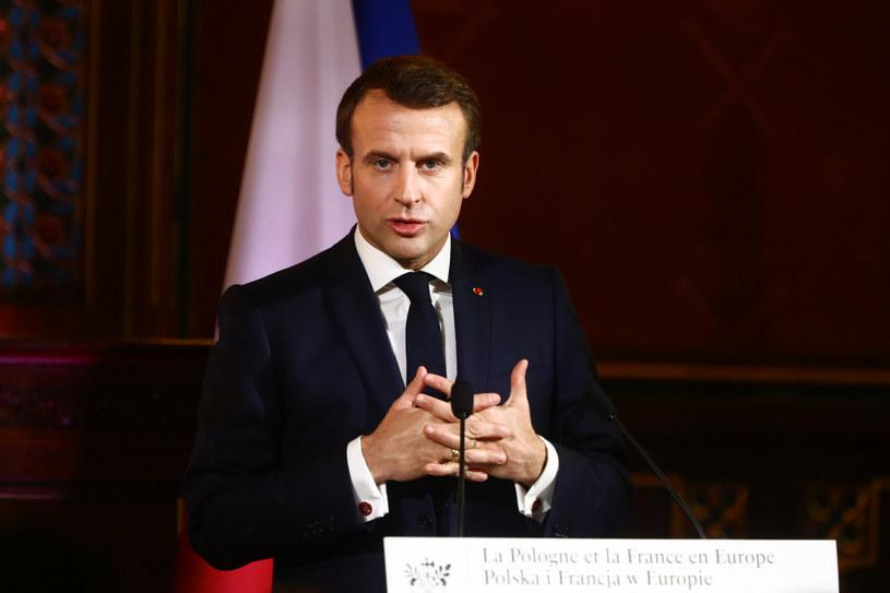 Emmanuel Macron na UJ /Beata Zawrzel /Reporter