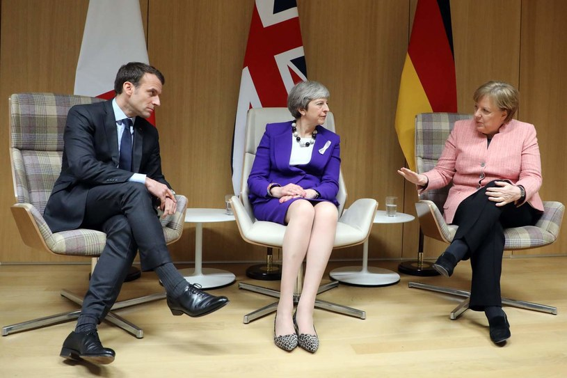 Emmanuel Macron, Theresa May i Angela Merkel /AFP