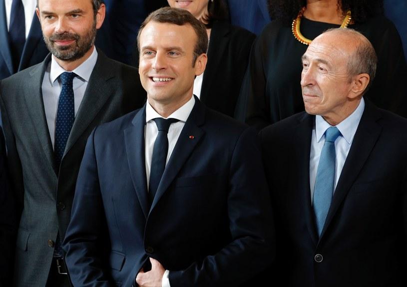 Emmanuel Macron (w środku) /AFP