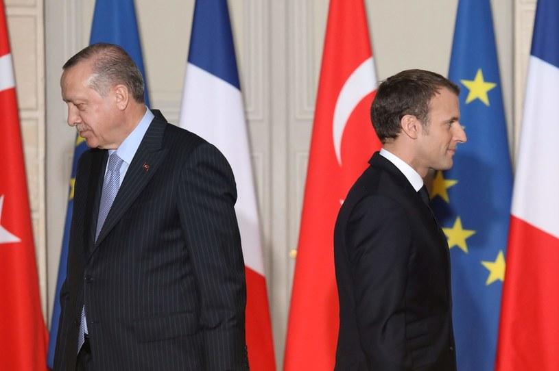 Emmanuel Macron (z prawej) i Recep Tayyip Erdogan /AFP