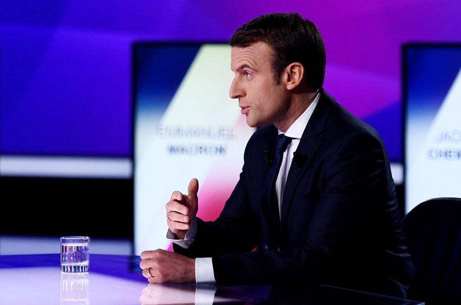 Emmanuel Macron /PAP/EPA/MARTIN BUREAU / POOL /PAP/EPA