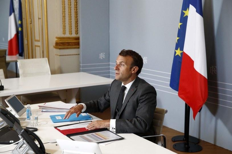 Emmanuel Macron /AFP/Pool Yoan Vallat /AFP