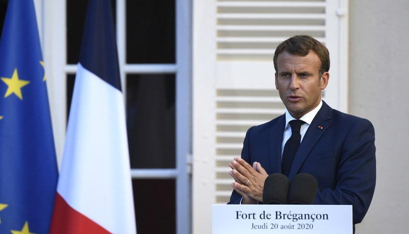 Emmanuel Macron /CHRISTOPHE SIMON /PAP