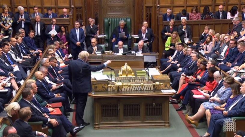 Emocje w brytyjskim parlamencie /UK PARLIAMENTARY RECORDING UNIT /PAP/EPA