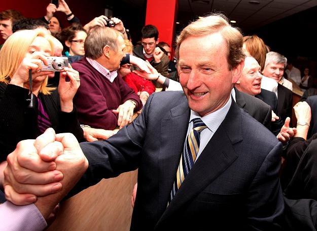 Enda Kenny, lider zwycięskiej partii Fine Gael /AFP