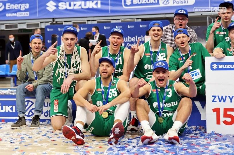 Enea Zastal BC Zielona Góra ze złotymi medalami. Fot. Andrzej Romański /materiały promocyjne
