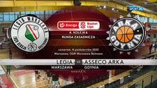 Energa Basket Liga. Legia Warszawa - Asseco Arka Gdynia - skrót (POLSAT SPORT). WIDEO