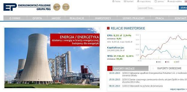 Energomontaż-Południe jest teraz w upadłości układowej /