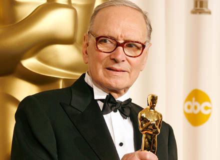 Ennio Morricone ze statuetką Oscara - fot. Frank Micelotta /Getty Images/Flash Press Media