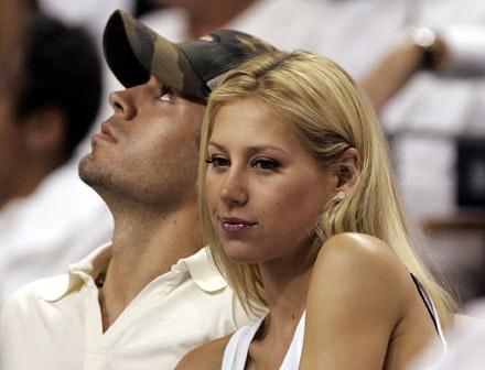 Enrique Iglesias i Anna Kurnikowa: Szczęśliwa para? /arch. AFP