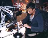 Enrique iglesias w studiu radia RMF FM /RMF